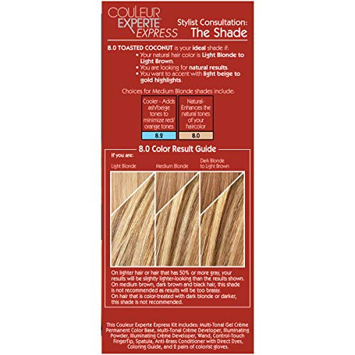 L'Oreal Paris Couleur Experte 2-Step Home Hair Color and Highlights Kit, Toasted Coconut
