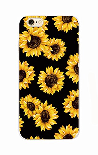 Daisy Sunflower Floral Flower Soft Clear Phone Case Fundas Coque For Phone 6 For iPhone X
