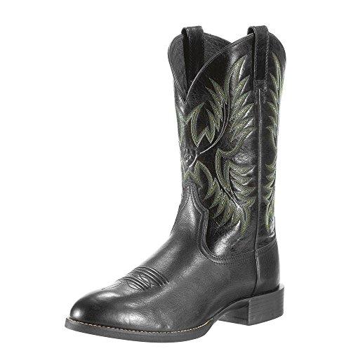 Ariat Men's Heritage Stockman Western Cowboy Boot, Black Dee