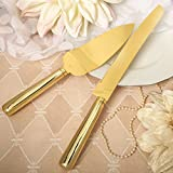 24 SETS Simple Elegance Classic Gold Stainless Steel Cake Knife Set
