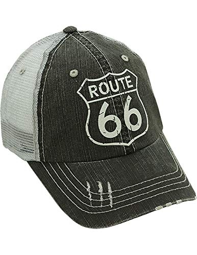 Alabama Girl Route 66 Denim Cap Unisex Styling - One Size Fits Most - Adjustable Back