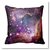Personalized 18x18 Inch Square Cotton Purple Small Magellanic Cloud Throw Pillows Throw Pillow Case Decor Cushion Covers