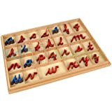 Montessori Cursive Moveable Alphabets with Box