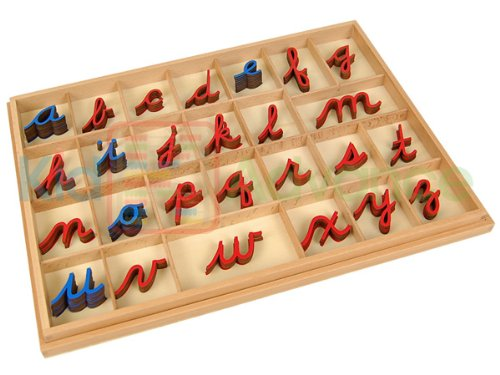 Kid Advance Montessori Cursive Moveable Alphabets with Box by Kid Advance (Image #1)