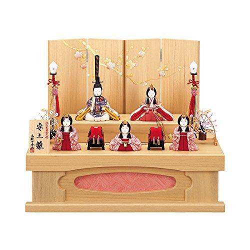 【数量限定】 雛人形 【16H267】 収納飾り 五人飾り 【一秀作 I-37 】お雛様 木目込み人形