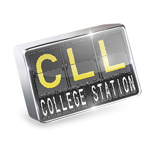 Floating Charm CLL Airport Code for College Station Fits Glass Lockets, - Station College Glasses