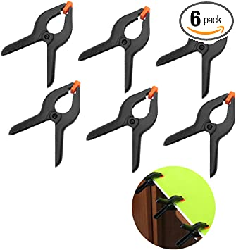 2,4,6 PCS Spring Clamps Heavy Duty qualité Quick Grip Clips Craft Bois Travail UK