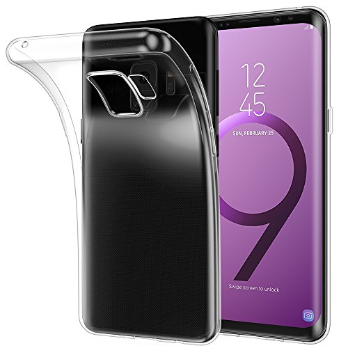 Galaxy S9 Case Clear, Highwings S9 Crystal TPU Cover Flexible Scratch-Resistant Phone Back Protection for Samsung Galaxy S9 (2018) 5.8 Inch - Crystal Clear