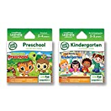 LeapFrog Leappad Game Cartridges 2-Pack-Get Ready for Kindergarten, Preschool Adventures (Works Platinum Ultra, LeapPad3, LeapPad2, LeapPad1), Multicolor