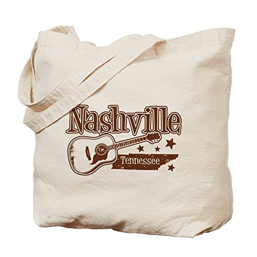 Cafepress–Nashville Tennessee–Borsa di tela naturale, tessuto in iuta