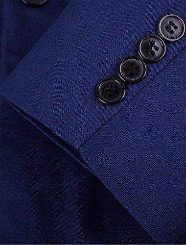 Retro Uomo Un Prima Di K Bottone Qualità Bavero Giacca vent Allegra Centro Blu 8qzORnBz