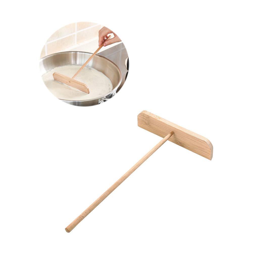 BESTOMZ 5 Piezas esparcidor de Crepe de bamb/ú de Madera esparcidor de panqueque raspador 23X13X3.5CM