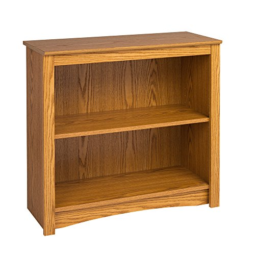 Oak 2-shelf Bookcase (Brown Oak Case)