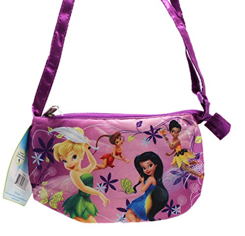 Disney Fairy Handbag (Disney Fairies Light Purple Colored Floral Themed Mini Handbag)