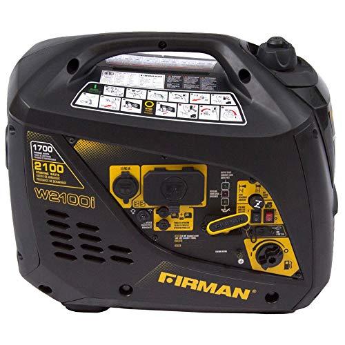 Gas-Powered 1700/2100-watt Whisper Series Extended Run Time Portable Inverter Black Yellow Uncategorized
