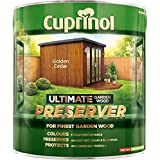 Cuprinol CUPGWPREGC4L 4L Ultimate Garden Wood Preserver - Golden Cedar by Cuprinol