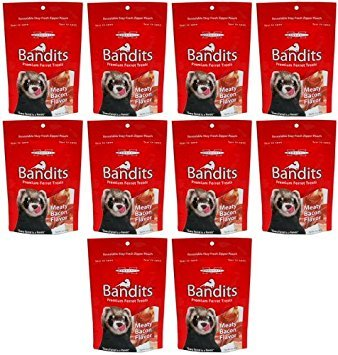 (Marshall Bandits Ferret Treat Meaty Bacon 1.875lbs (10 x 3oz))