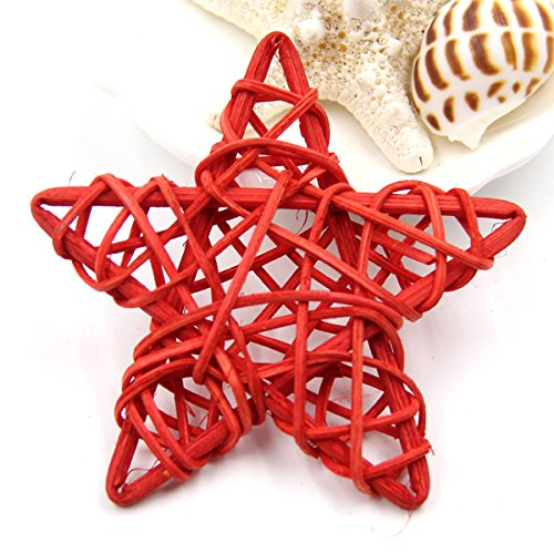 SeedWorld Party DIY Decorations - 6CM Lovely Rattan Star Sepak Takraw Christmas/Birthday&Home Wedding Party Decorations DIY Ornaments Rattan Ball Kids Toys 1 PCs -