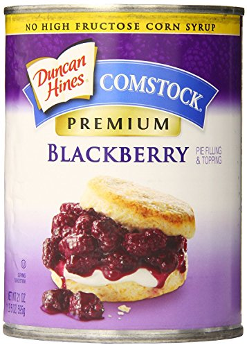 Comstock Premium Pie Filling & Topping, Blackberry, 21 Ounce