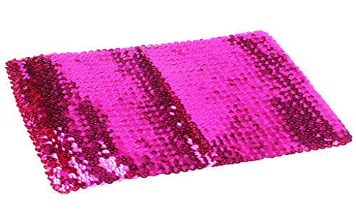 Alivila.Y Fashion Sparkling Sequins Stretch Party Tube Top 4098-Hot Pink ()