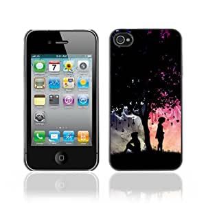 Designer Depo Hard Protection Case for Apple iPhone 4 4S / Cool His & Hers Tree Love