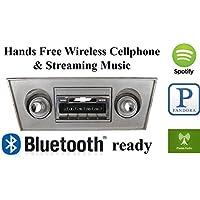 Bluetooth Enabled 1966-1967 Chevy Nova USA-630 II High Power 300 watt AM FM Car Stereo / Radio USB, Aux, iPod inputs