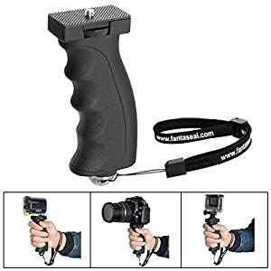 Fantaseal Ergonomic Camera Grip Camcorder Mount DSLR Camera Handheld Stabilizer Handle Support Bracket Hand Video Light Flashlight Handle SelfieStick for Nikon Canon Sony DSLR etc(Improved Version)