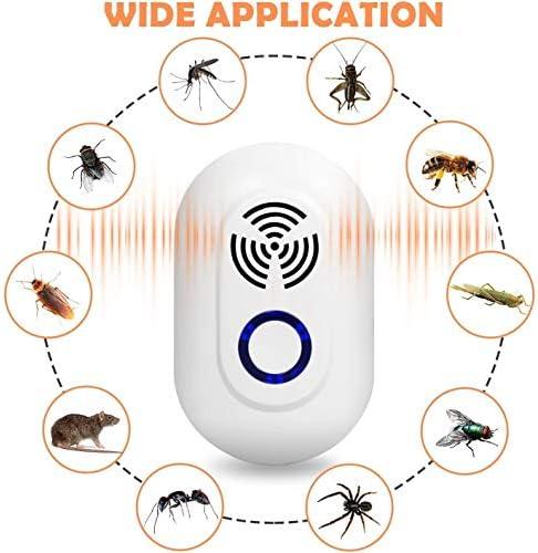 超音波害虫リペラー、安全でサイレントプラグイン昆虫リペラー、超音波リペラー、蚊、ゴキブリ、マウス、ハエ、アリ害虫拒否