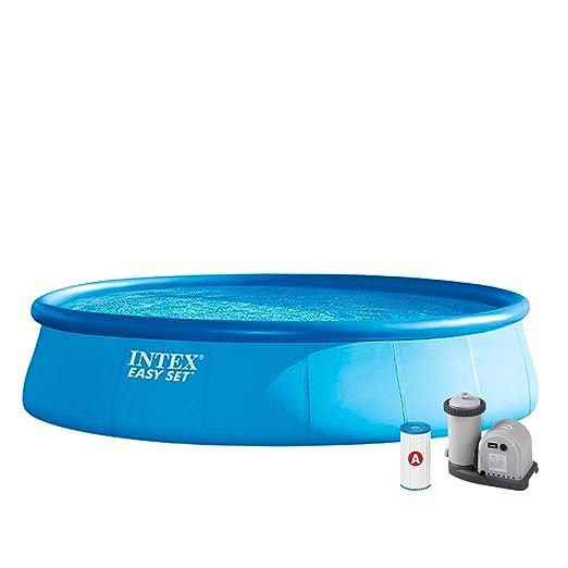 Intex 26176NP Piscina hinchable, con depuradora, 20.647 litros, 549 x 122 cm