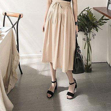 LvYuan Mujer Sandalias Semicuero Primavera Verano Hebilla Cremallera Tacón Robusto Negro Beige Rosa 2'5 - 4'5 cms beige