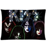 1 X Custom KISS American Rock N Roll Band Pillowcase Standard Size Design Cotton Pillow Case by Tomtop