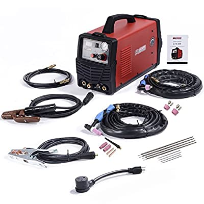 Amico CTS-200 50 Amp Plasma Cutter 200A TIG-Torch 200A Stick Welder 3-in-1 Multifunction