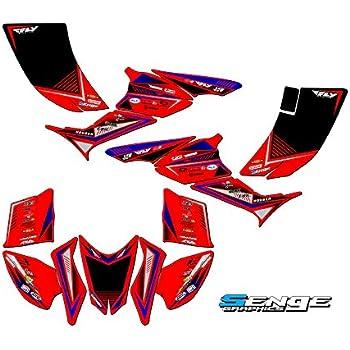 Senge Graphics Kit Compatible with Honda 2005 TRX 450R Shredder Red Graphics Kit
