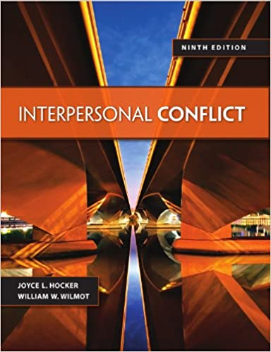 Interpersonal Conflict Wilmot 9th Edition Download
