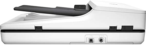 HP ScanJet Pro 2500 f1 Flatbed Scanner Electronics Basket Microfiber Cloth 8-bit Grayscale USB with Power Strip Surge Protector 20 ppm 1200 dpi Optical 24-bit Color 2 Pack Saver