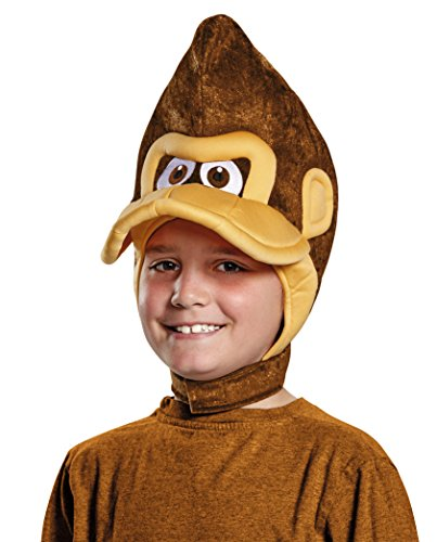 Super Gorilla Child Costumes (Donkey Kong Super Mario Bros. Nintendo Child Headpiece, One Size Child)