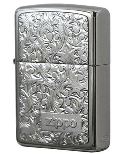 Zippo JapanModel Sterling silver plate uArabesquev Silver titanium #KR-3 ()
