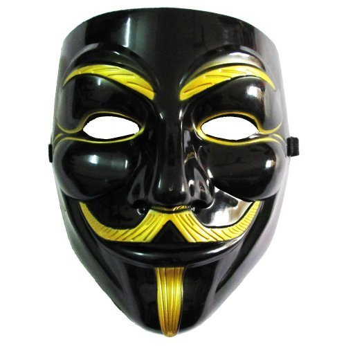 10pc lot unisex black gold v for vendetta mask halloween cosplay fancy mask by ecosco amazon co uk toys games amazon uk