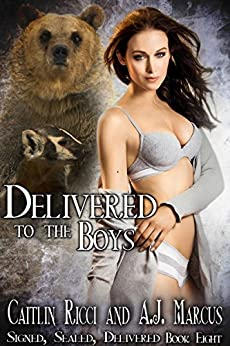 Delivered to the Boys (Signed, Sealed, Delivered Book 8) by [Ricci, Caitlin, Marcus, A.J.]