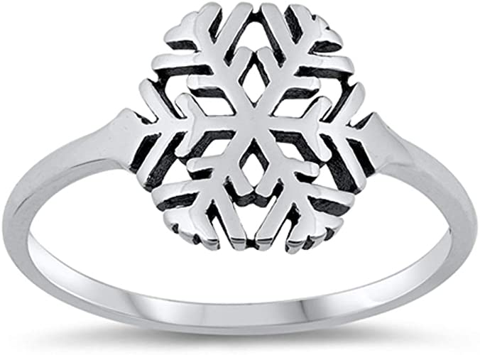 CloseoutWarehouse Sterling Silver Cutout Medieval Cross Fashion Ring
