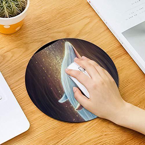 Mouse Pad Round Mouse Pad Whale and Stars Sturdy 260mm210mm3mm -