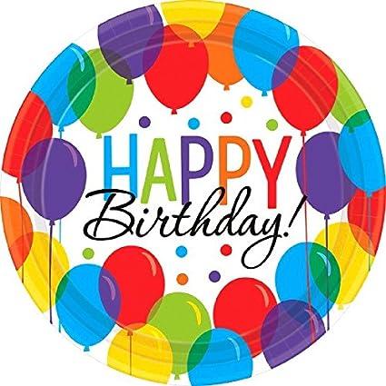 Amazon.com: Globo Bash Ronda de fiesta de cumpleaños platos ...