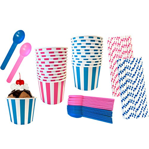 pink and blue ice cream cups - 1