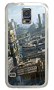 amazing Samsung S5 cases Future City Art PC Transparent Custom Samsung Galaxy S5 Case Cover
