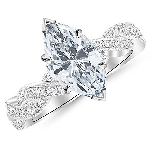 0.45 Ct Marquise Diamond - 1