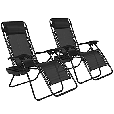 Best Choice Products New Case of (2) Zero Gravity Chairs Recliner Lounge Patio Chairs Folding