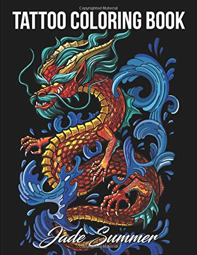 Tattoo Coloring Book Awesome Relaxing product image