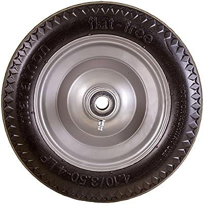 Marathon 4.10//3.50-4 Flat Free All Purpose Utility Tire on Wheel 4 Centered Hub 5//8 Bearings 4 Centered Hub 5//8 Bearings Marathon Industries 00014
