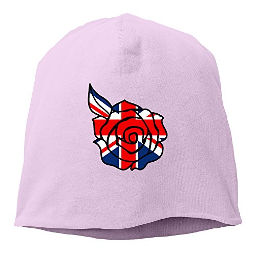 - Union Jack Rose Cool Hedging Hat Beanies Cap Pink
