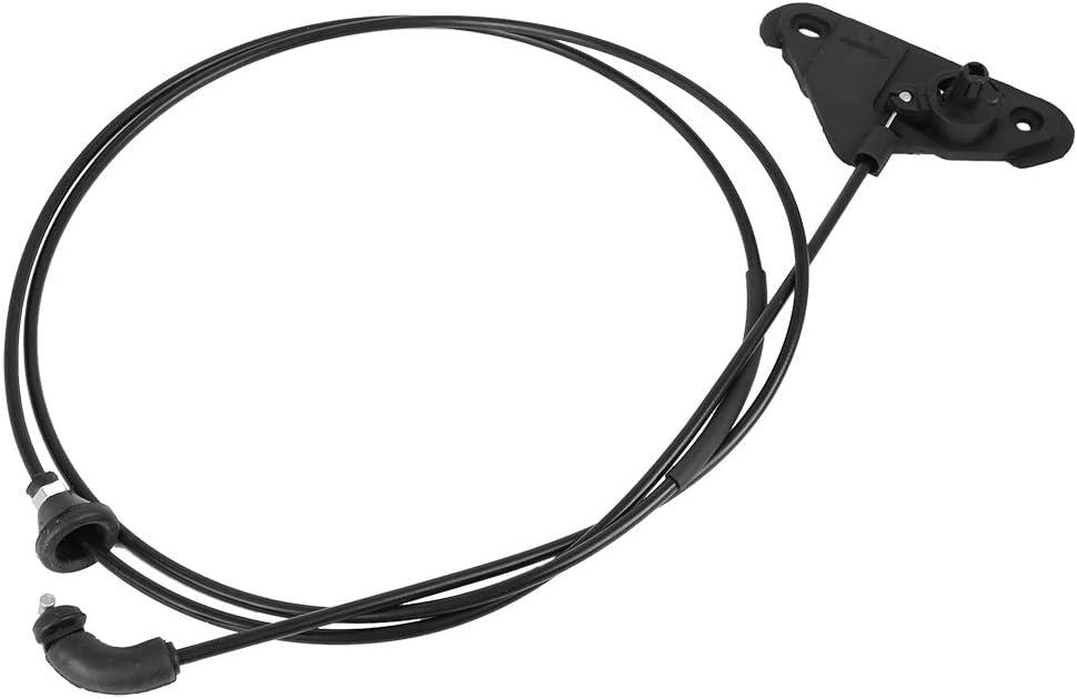 X AUTOHAUX Engine Bonnet Hood Release Cable Repair Wire Black for Car